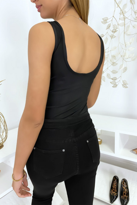 Zwarte bodysuit met kralen