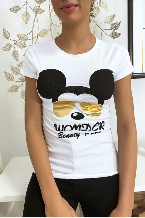 T-shirt blanc Mickey