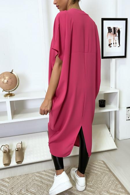 Robe fuchsia longue et ample