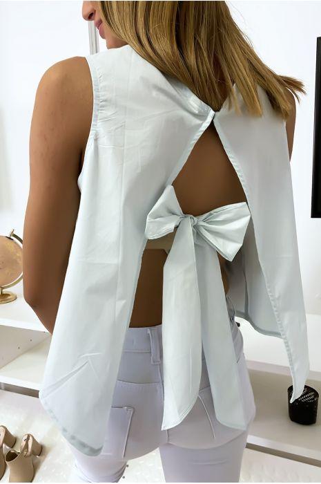 Top vert dos nu avec noeud