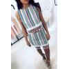 Jupe rayées motifs aztèque. Femme 6105