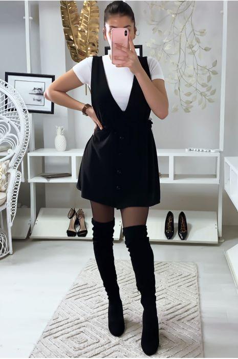 Jolie robe chasuble noir