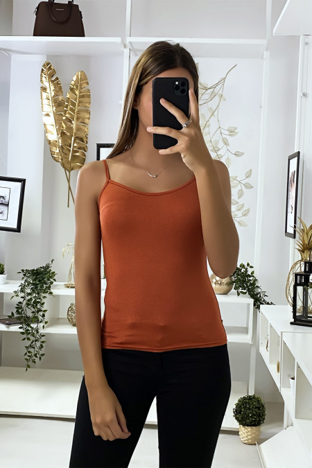 Cognac tanktop, basic top.