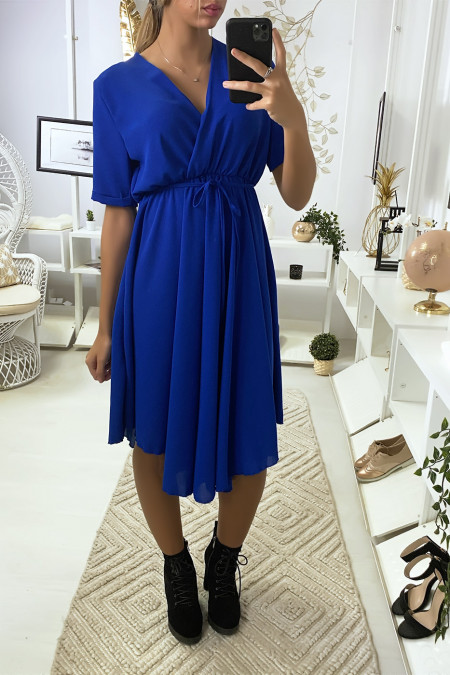 Royal crossover dress with very trendy bust