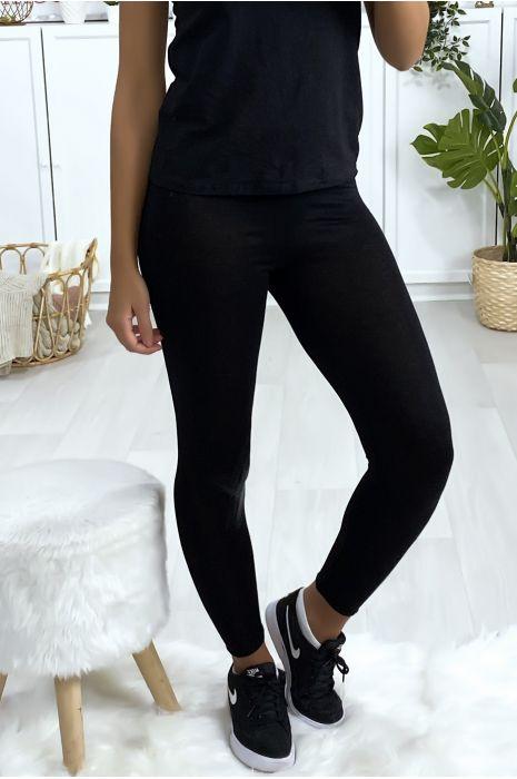 Leggings uni basique couleur noir