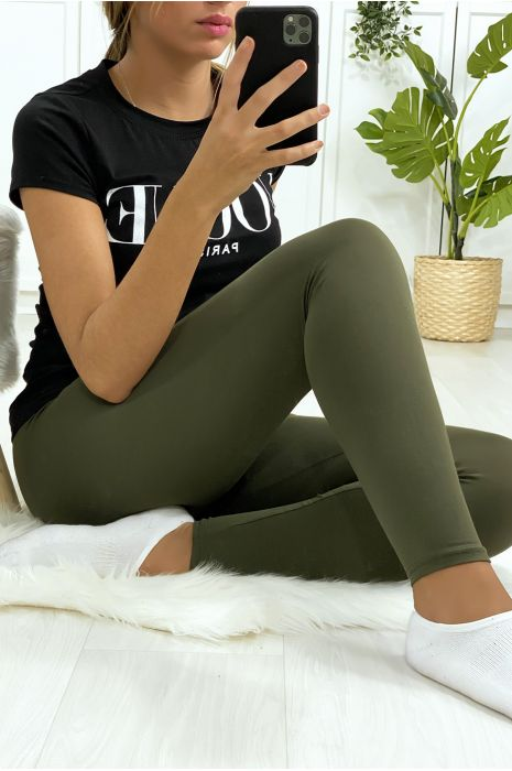 Basic effen kaki legging