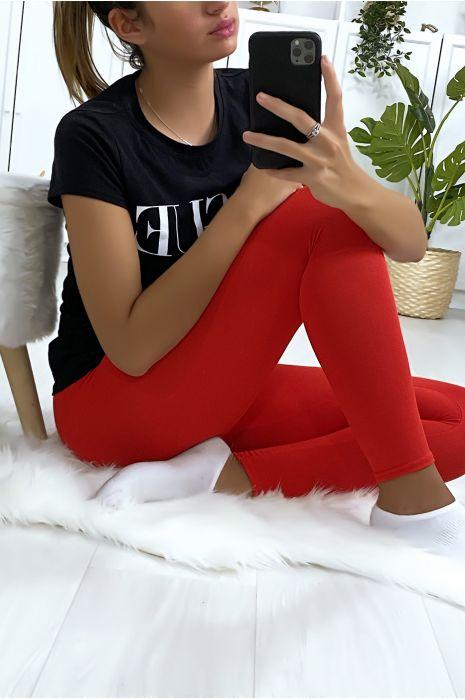 Leggings uni basique couleur rouge
