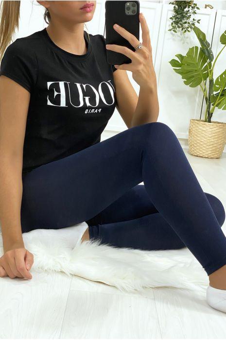 Basic effen marinekleurige legging