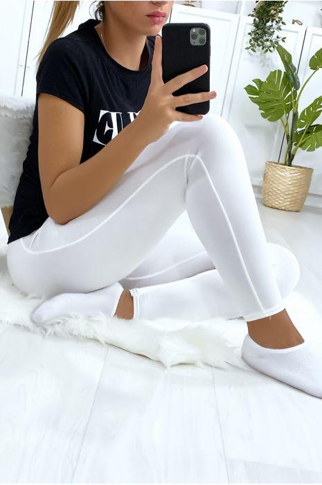 Leggings uni basique couleur blanche