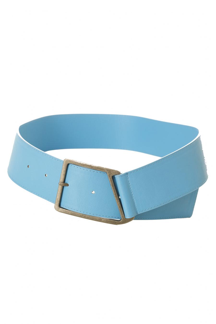 Ceinture bleue à boucle trapèze. SG-0468