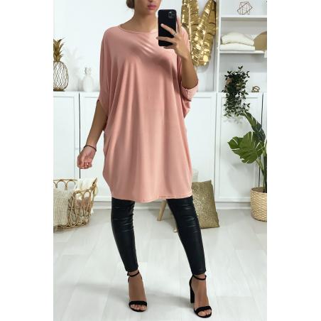 Superbe robe tunique rose ultra ample et très tendance vendu sans la ceinture