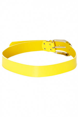 Yellow belt with silver buckle. D7364