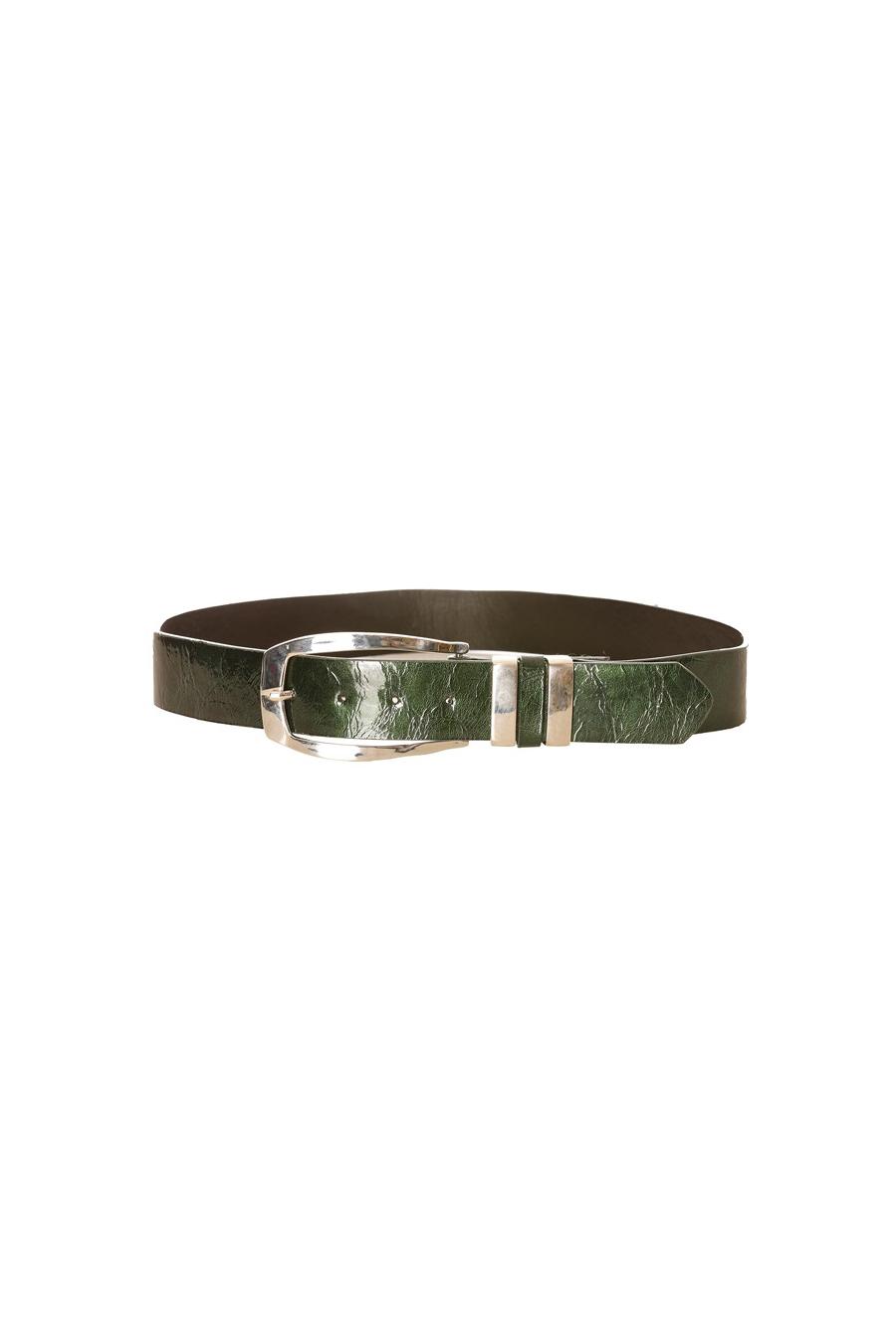 glanzende groene riem. M17-009