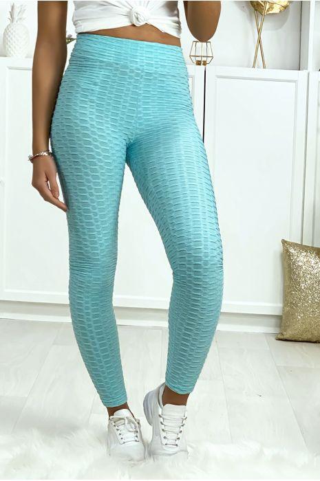 Legging Push Up turquoise très fashion