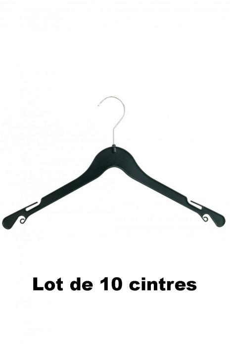 10 cintres plastique noir idéal pour Chemise, tee-shirt et robe