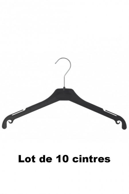 10 zwarte plastic hangers ideaal voor jas, gilet en blazer