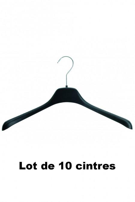 10 zwarte plastic hangers ideaal voor trui, jas en vest