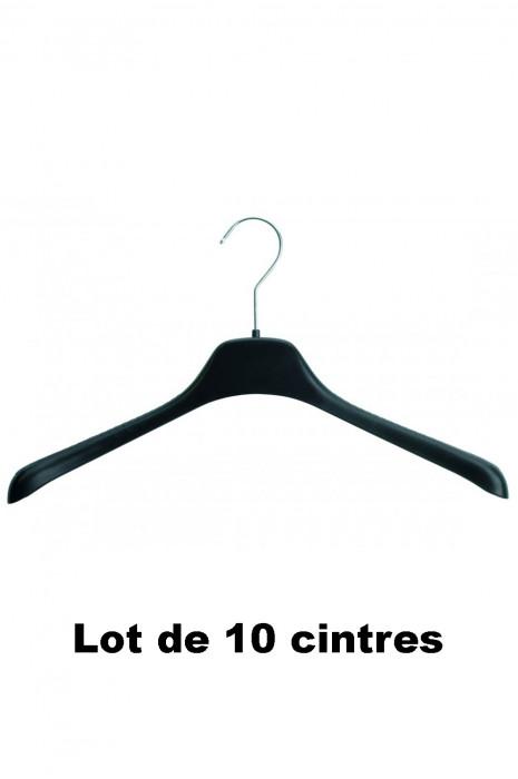 10 cintres plastique noir idéal pour Pull, manteau et gilet