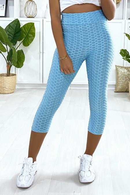 Fashionable turquoise Push Up leggings