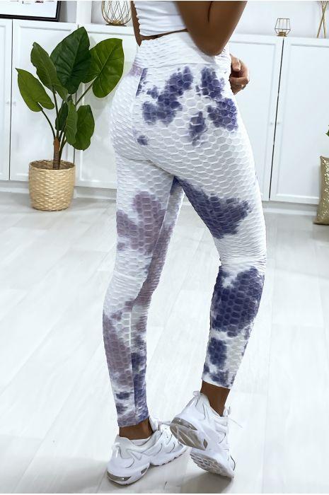 Legging Push Up motif Tie&die violet très fashion