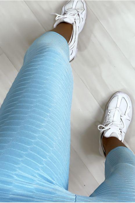 Legging corsaire Push Up bleu très fashion