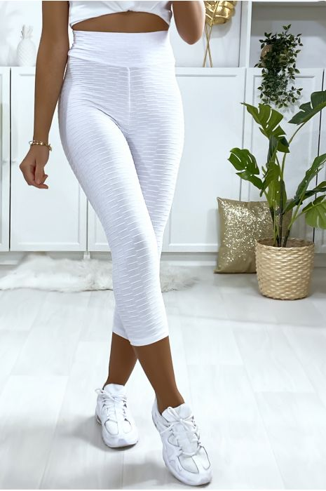 Legging corsaire Push Up blanc très fashion