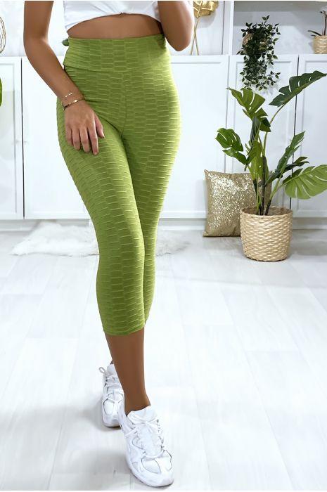 Legging corsaire Push Up vert très fashion
