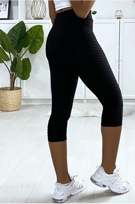 Legging corsaire Push Up noir très fashion