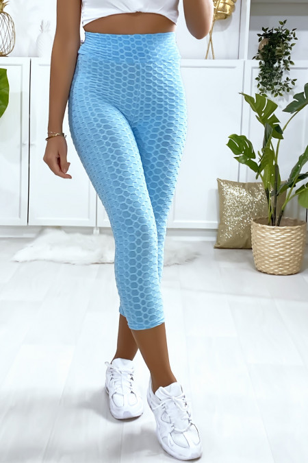Fashionable blue Push Up corsair leggings