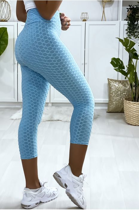 Legging corsaire Push Up bleu très fashion