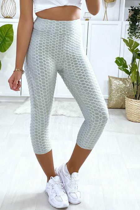 Legging corsaire Push Up gris très fashion