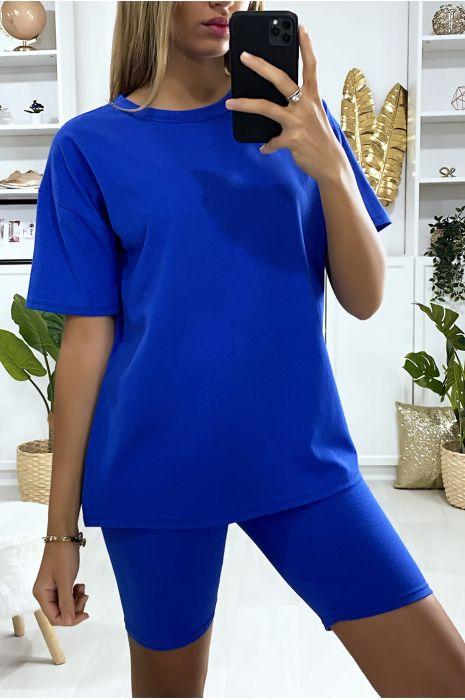 Zeer modieuze royal oversized short en t-shirt set