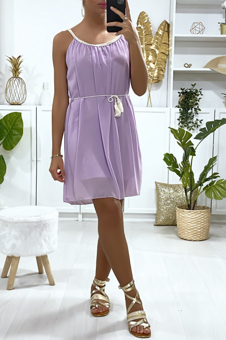 Lila tunic dress lined with braided strap