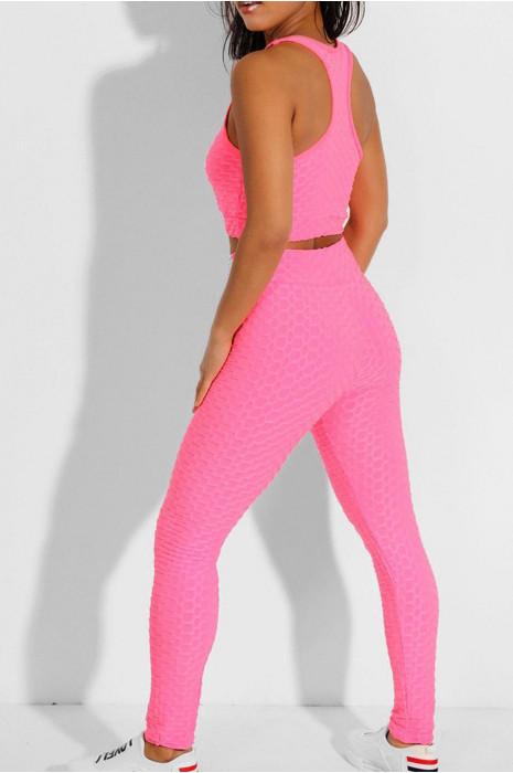 Set van roze legging en push-up top