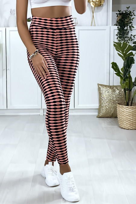 Pink Push Up leggings with very fashionable pattern. The best seller of the moment