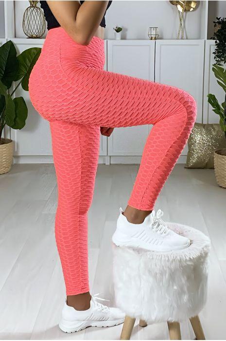 Legging Push Up corail très fashion. Le best seller du moment