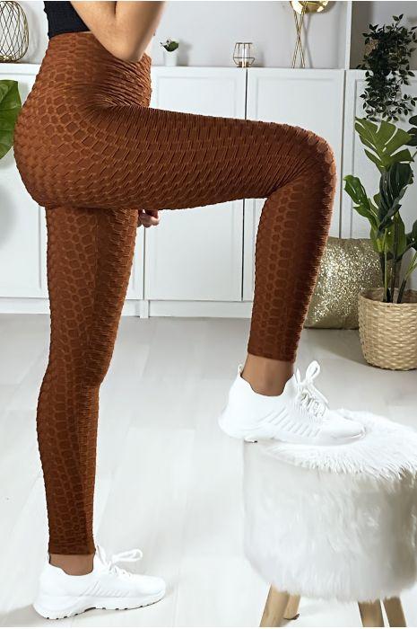 Zeer modieuze bruine Push Up legging. De bestseller van dit moment