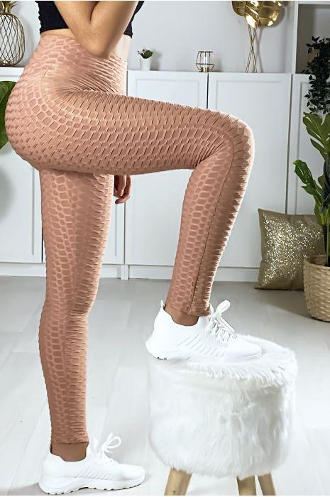 Zeer modieuze fuchsia Push Up legging. De bestseller van dit moment