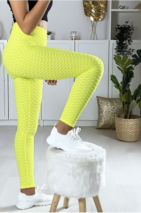 Legging Push Up jaune très fashion. Le best seller du moment