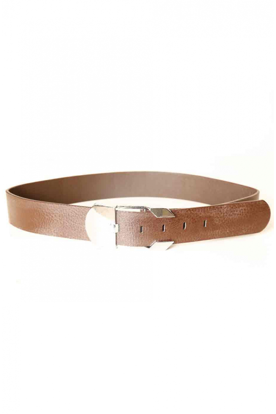 Brown belt with rectangle buckle X85-102