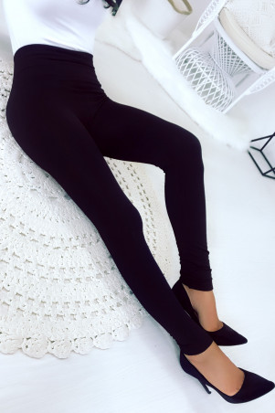 Black Thick Flat Belly High Waist Leggings