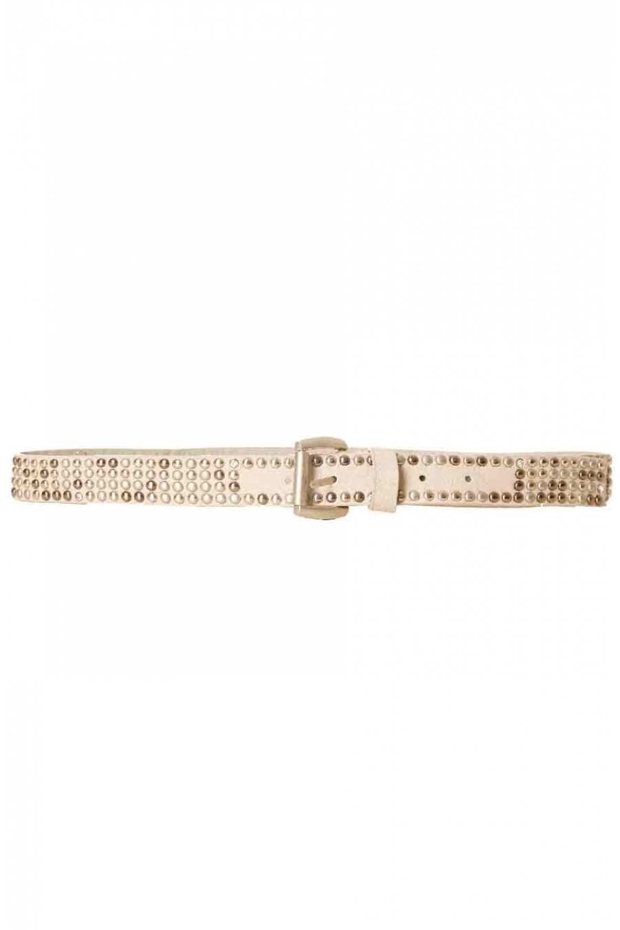 Fine taupe belt with small buckle SG-0974