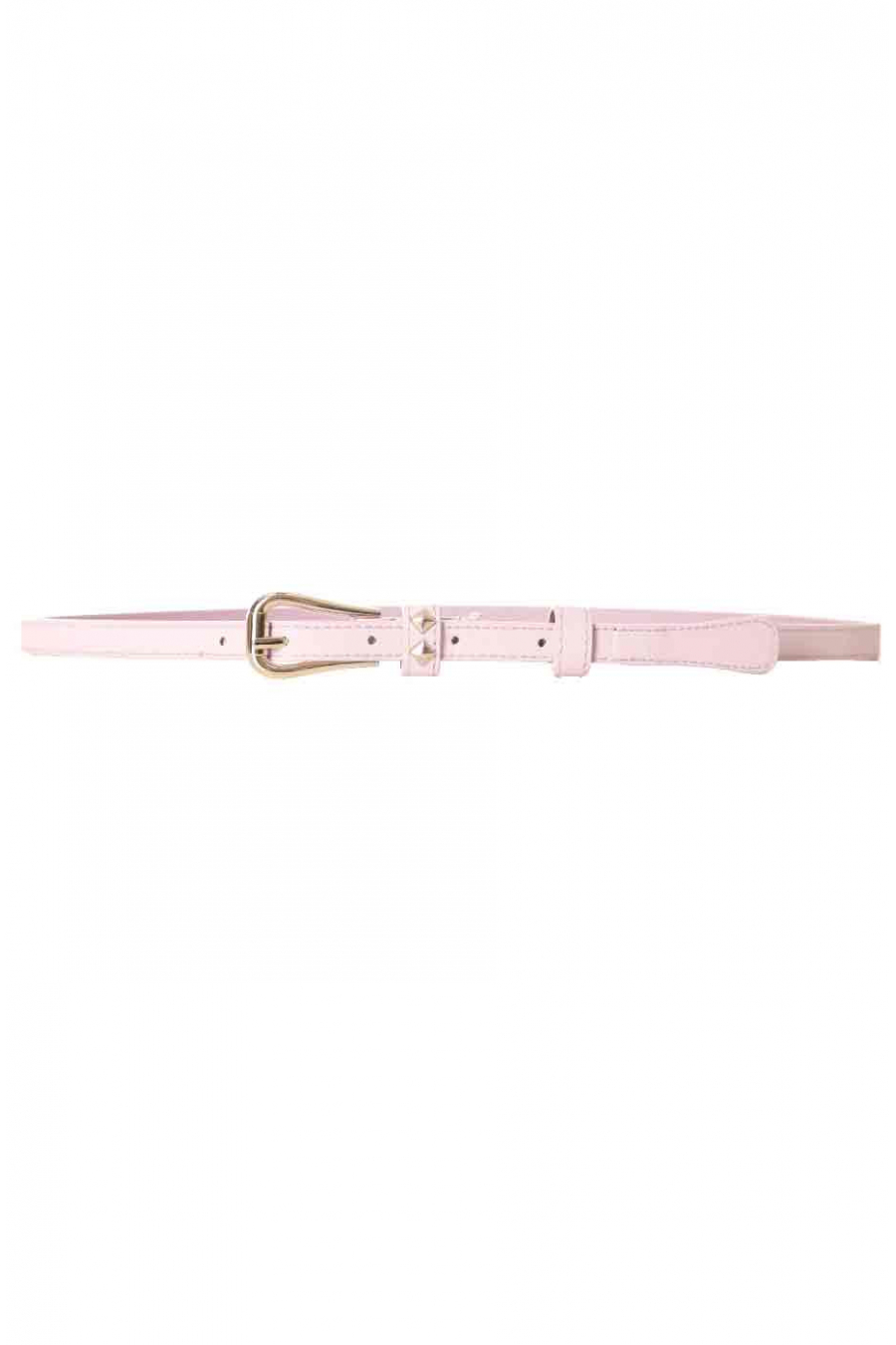 Thin pink belt with tightening buckle SG-0469
