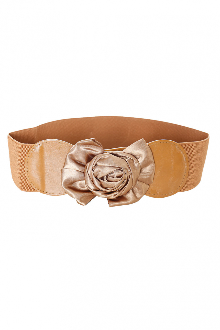 Elastic camel belt with large bow buckle. SG-0476