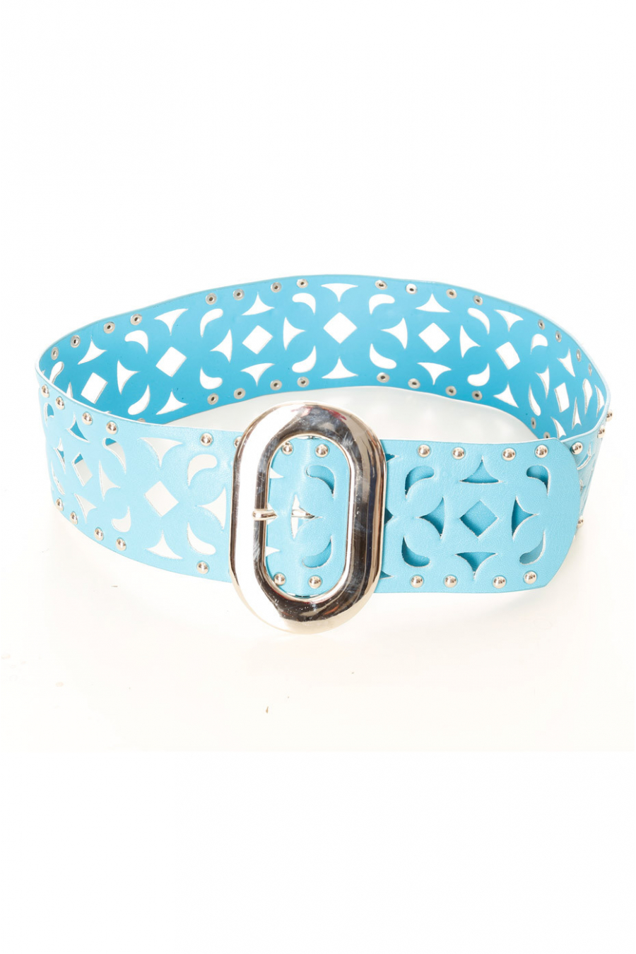 Blue belt with details and studs. SG-0421