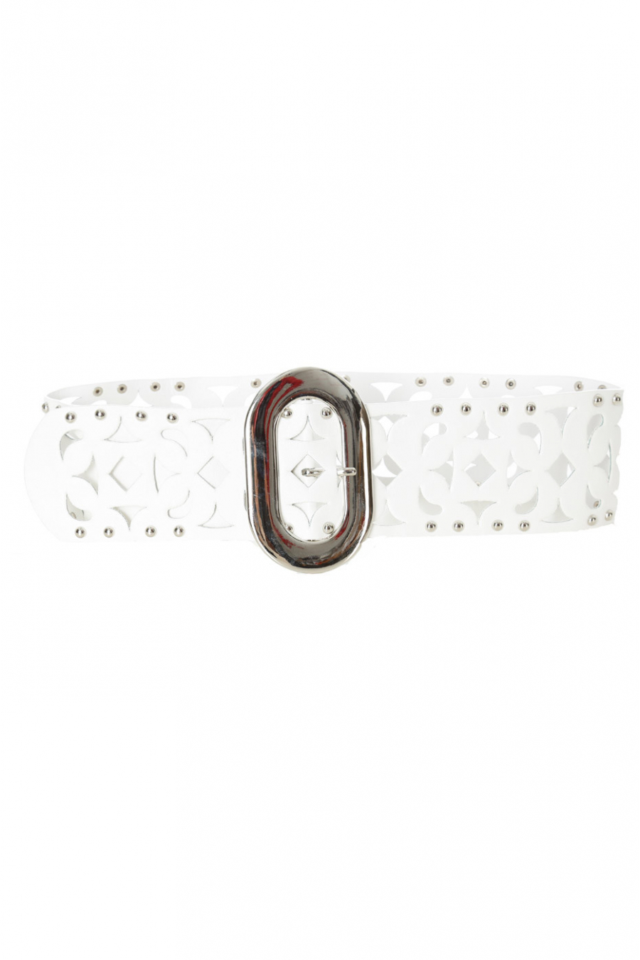 White belt with details and studs. SG-0421
