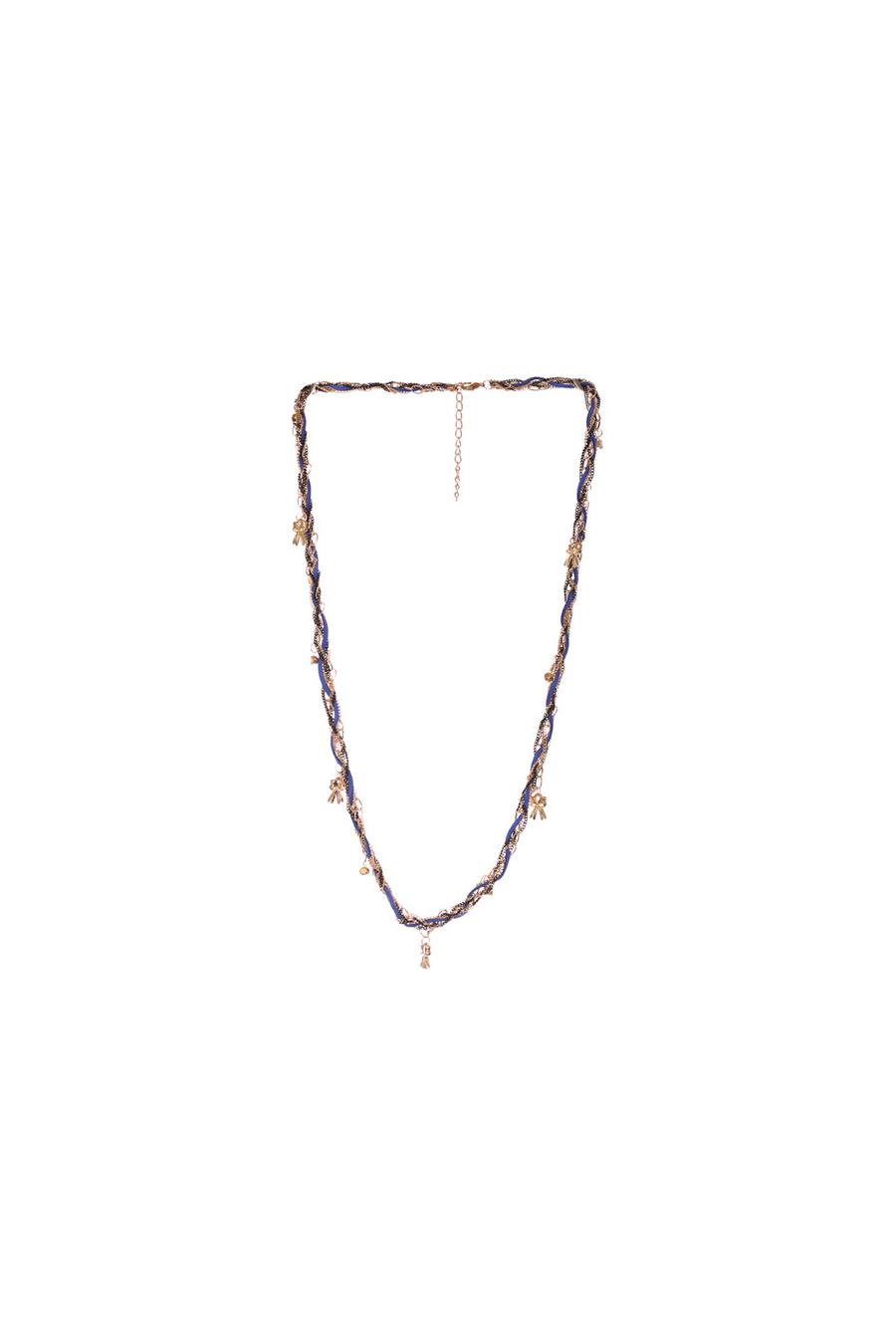 Collier royal et noir avec différentes chaines et pendentifs. Bijoux femme mode