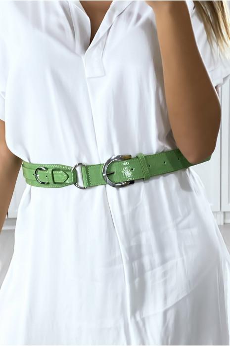 Groene riem met mini riemringen