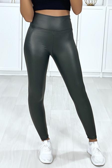 Zeer modieuze kaki faux legging