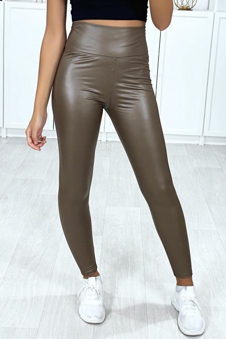Very fashionable taupe faux leggings
